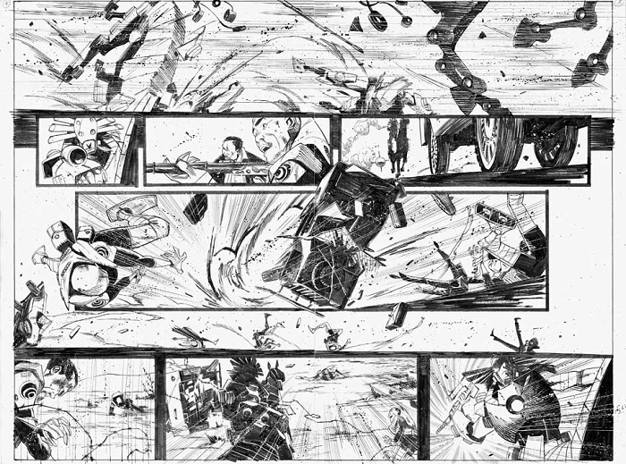 Black Science Issue 4 Pages 04-5 by Matteo Scalera