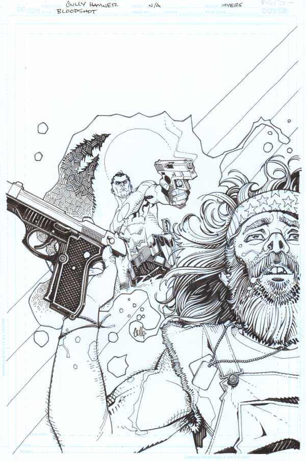 Bloodshot Salvation #4 Cover by Cully Hamner