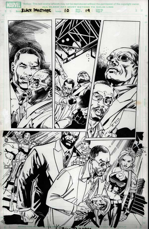 Black Panther #10 p.19 by Klaus Janson