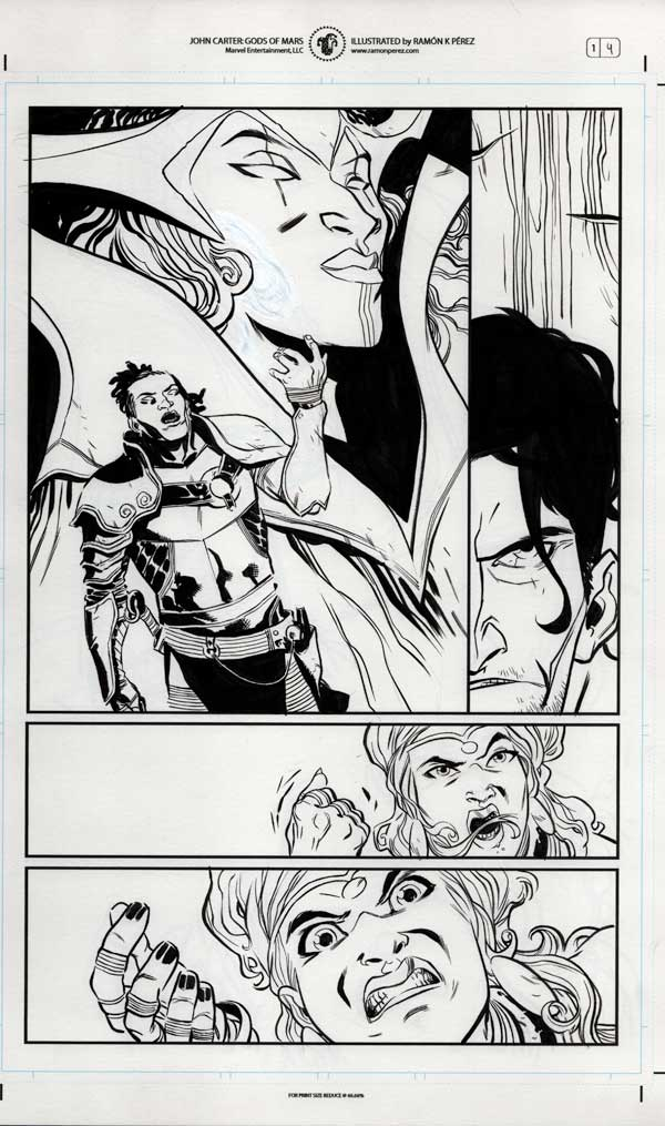 John Carter #1 p.04 by Ramon Perez