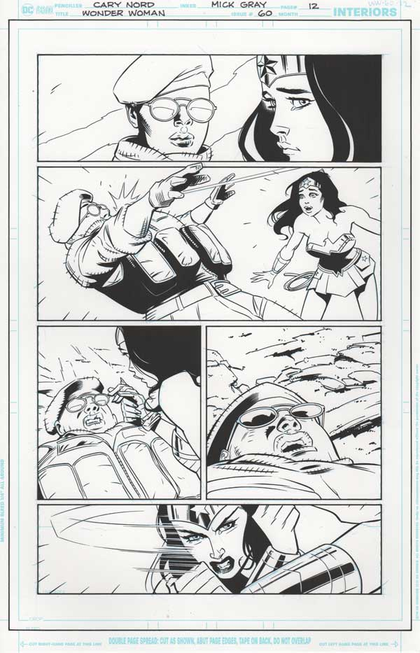 Wonder Woman #60 p.12 by Cary Nord