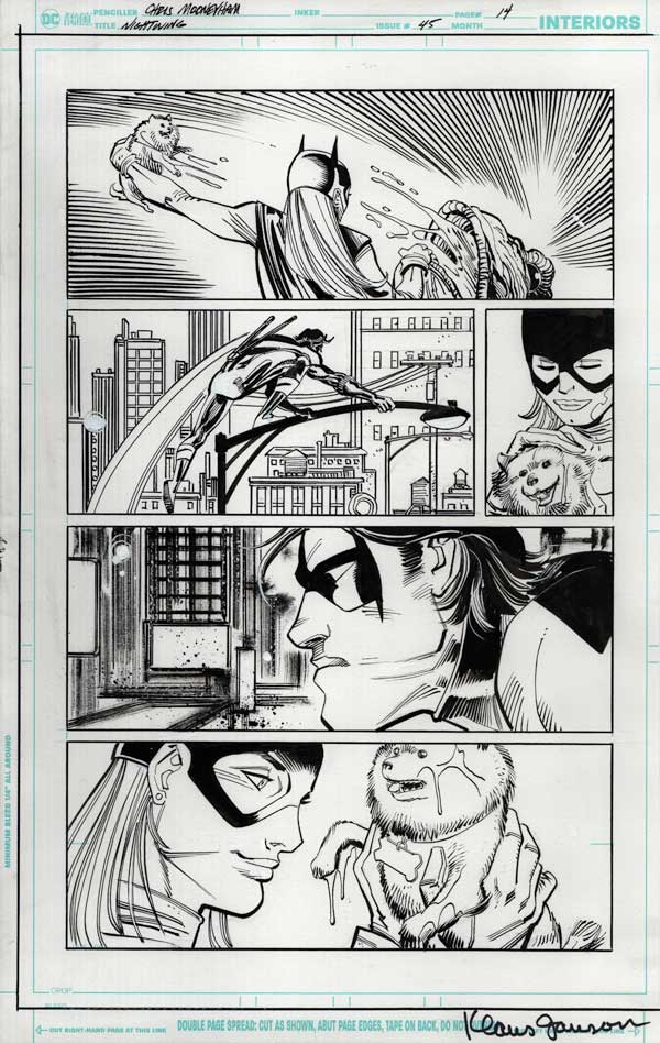 Nightwing 45 p14 by Klaus Janson