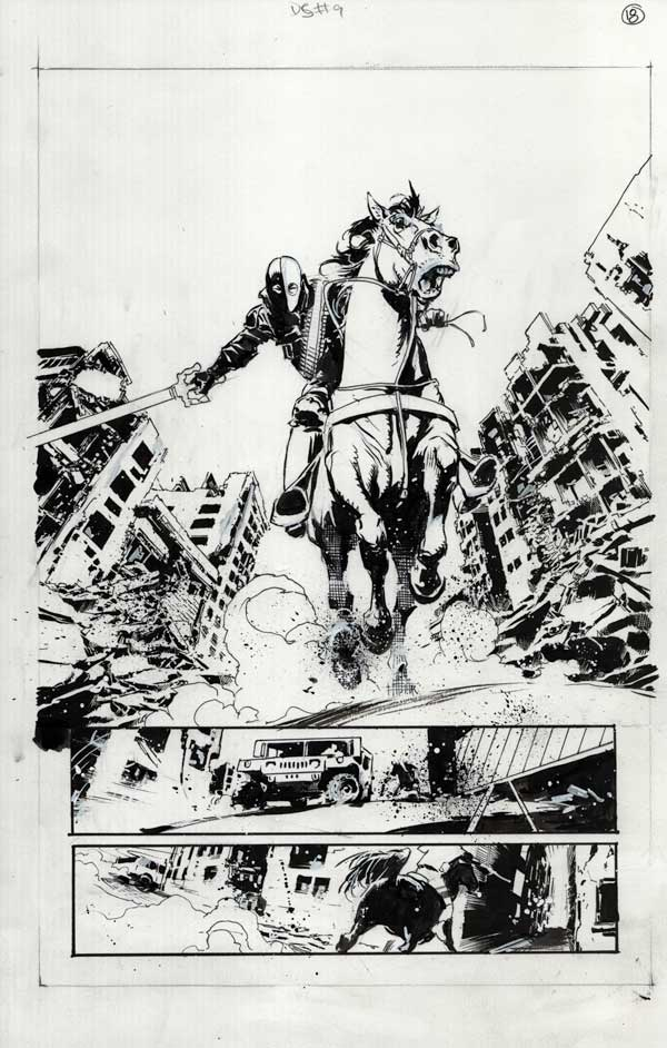 Deathstroke #9 p.18 by Cary Nord