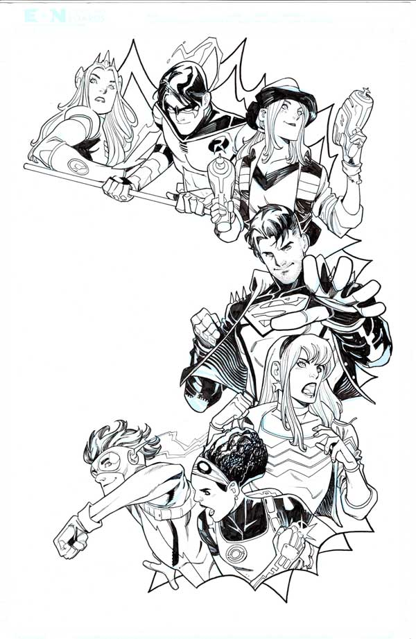Young Justice #6 p.01 by John Timms