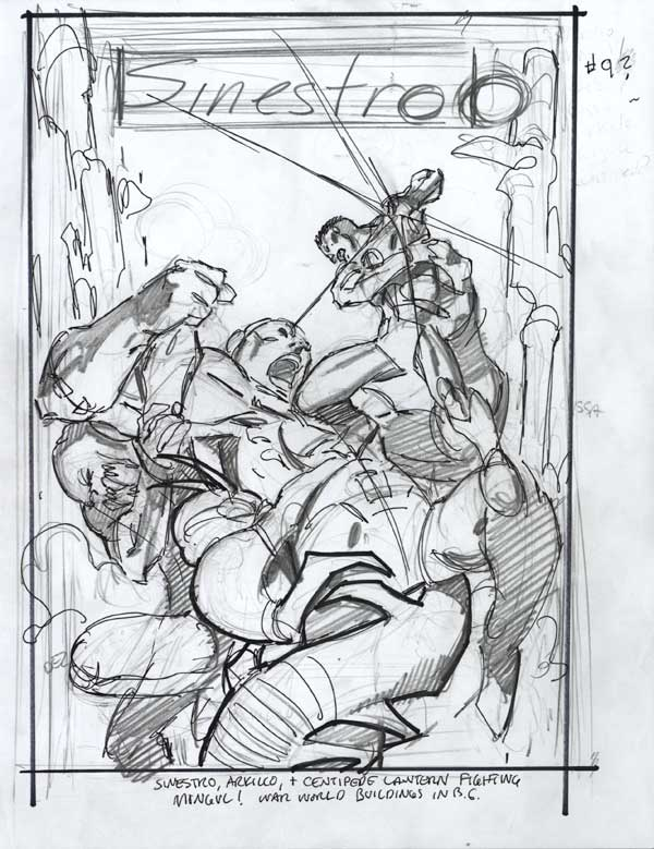 Sinestro #9 Cover Prelim by Andy Kubert