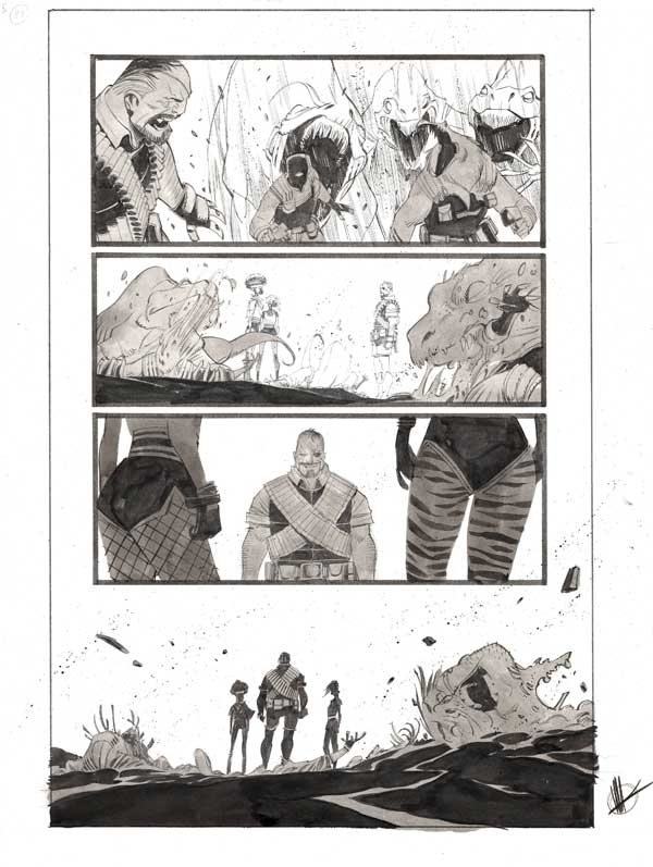 Space Bandits #5 p.28 by Matteo Scalera