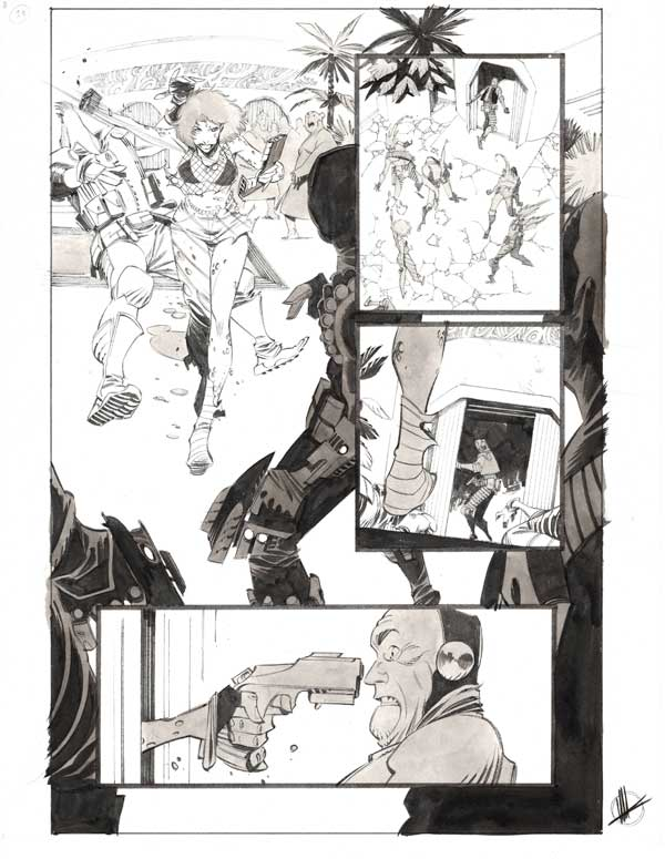 Space Bandits #3 p.13 by Matteo Scalera