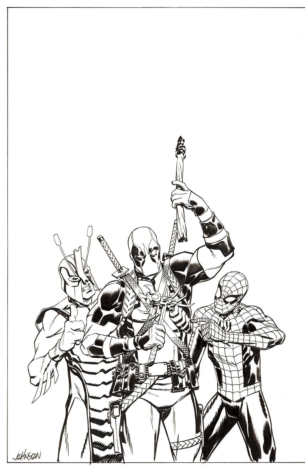 Spider-Man/Deadpool #42 Cover by Dave Johnson