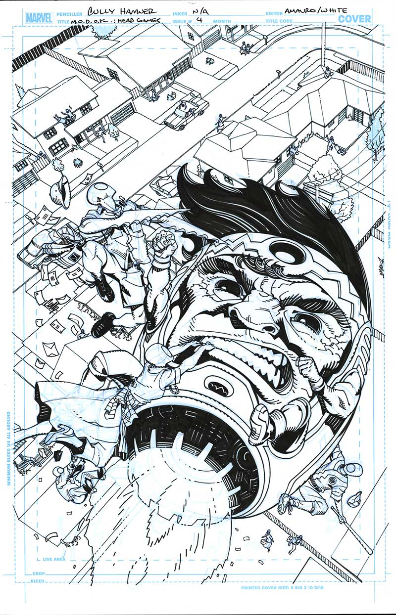 M.O.D.O.K.: Head Games #4 Cover by Cully Hamner