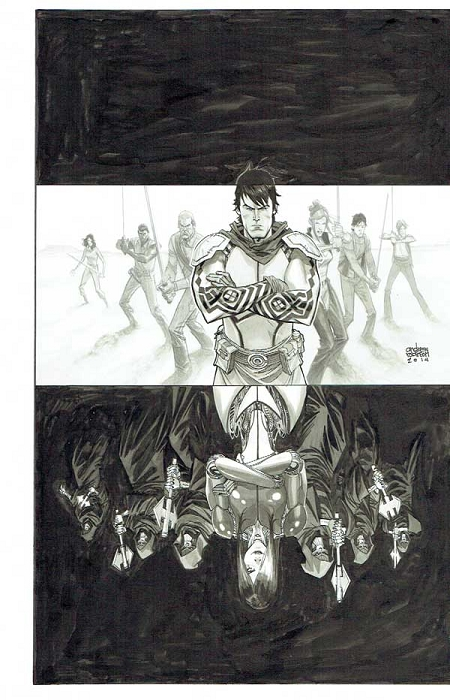 The 7th Sword #3 Cover by Andrew Robinson