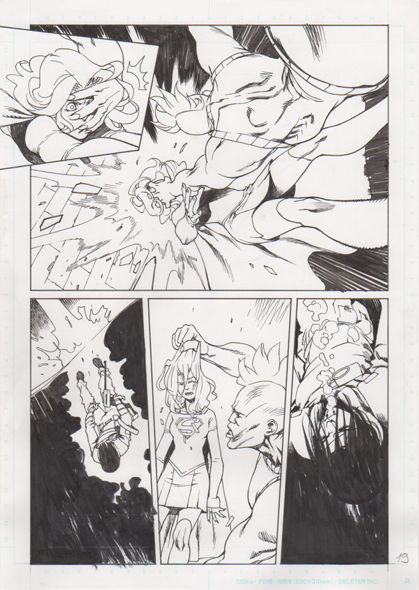 Adv of Supergirl #2 p.19 by Bengal