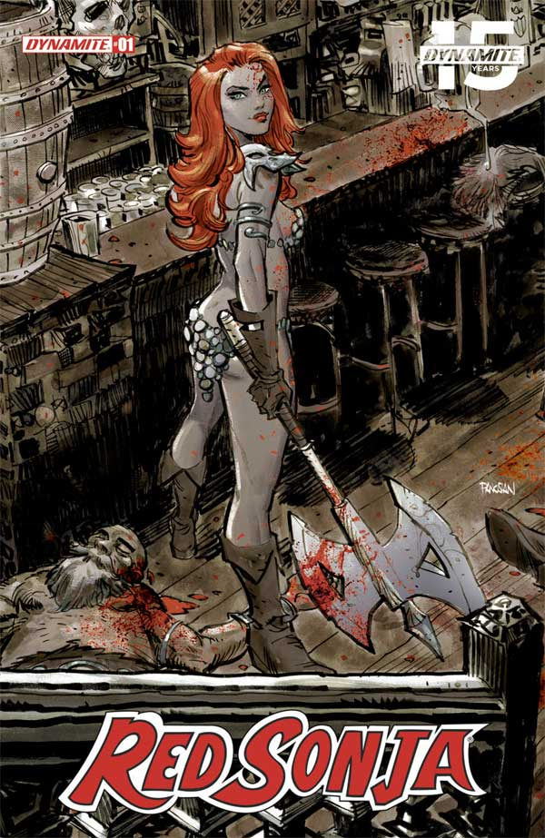 Red Sonja #1 Anniversary Edition Cover A by Dan Panosian