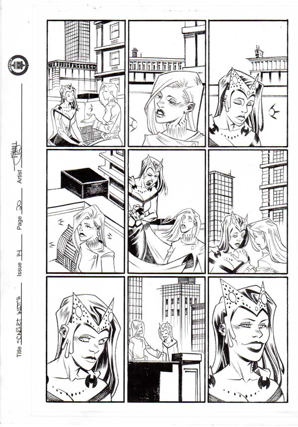 Scarlet Witch #14 p.20 by Shawn Crystal