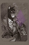 Blacksad Grey Print by Juanjo Guarnido