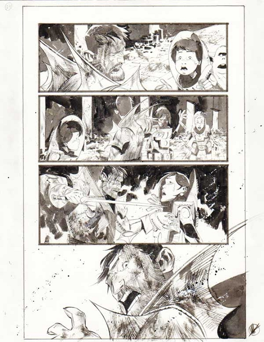 Black Science Issue 16 page 21 by Matteo Scalera
