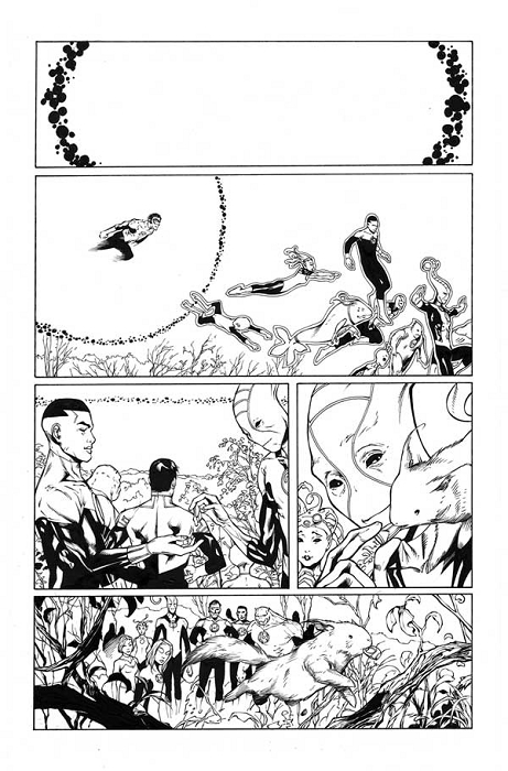 Green Lantern Annual #3 p.40 by Mark Irwin