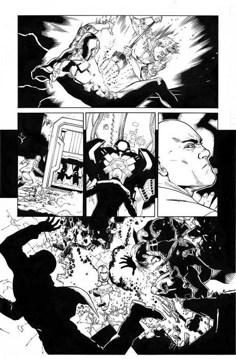 Justice League #35 p.21 by Mark Irwin