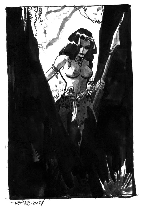 Jungle Girl Print by Tim Sale