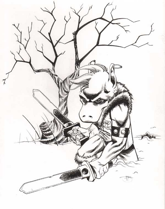 Cerebus by Shawn Crystal