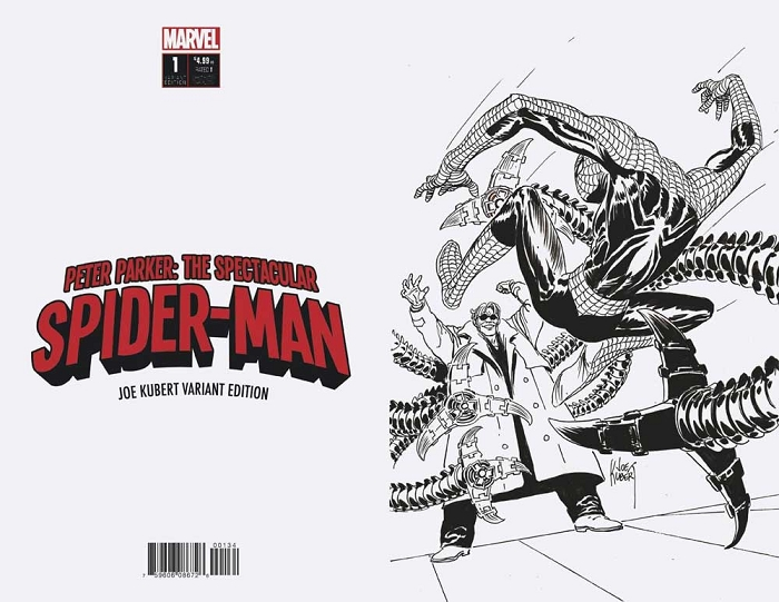 Peter Parker: The Spectaculer Spider-Man #1 B/W Virgin Copy by Adam Kubert
