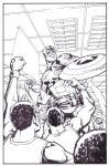 Capt. America ESPN Magazine Art by Dave Johnson Comic Art
