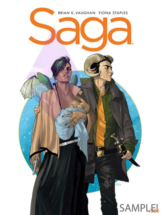 Limited-Edition Saga #1 Canvas Giclee by Fiona Staples