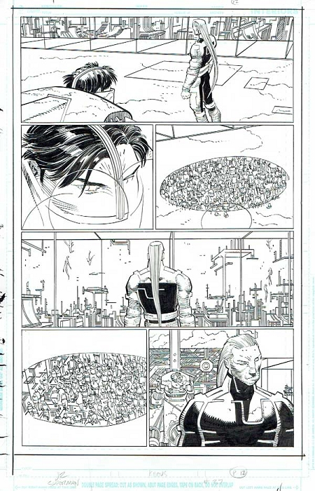 Superman Issue #37 p.12 by Klaus Janson