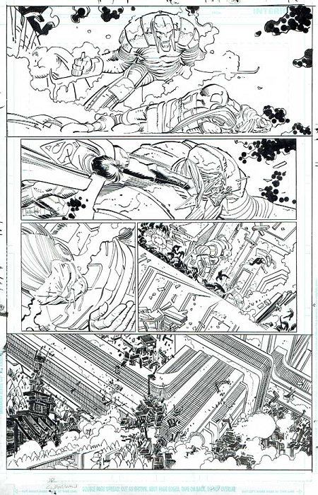 Superman Issue #37 p.18 by Klaus Janson