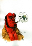 Hellboy Bust by Dave Johnson