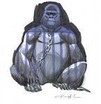Chained Gorilla by Mindy Lee