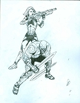 Gamora and Drax Cover #1 Prelim by Steve McNiven