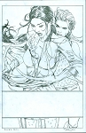 Kitty and Lady Deathstrike Prelim by Steve McNiven