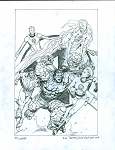 Fantastic Four Cover Prelim by Steve McNiven