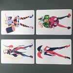 Set of 4 Harley Prints by Mindy Lee