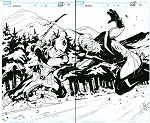 Deadpool #9 p.02-3 Artist Proof by Matteo Lolli