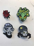 Complete Set of Limited Edition Pins by Mindy Lee