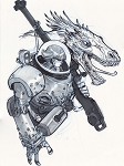 Dragon Girl by Eric Canete