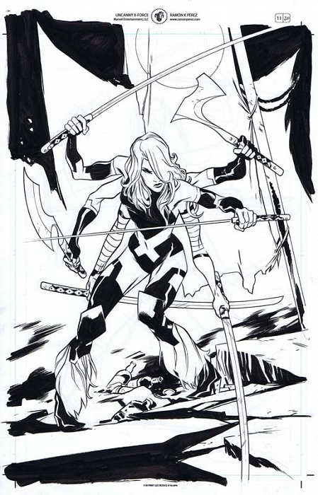 Uncanny X-Force #11 p.20 by Ramon Perez