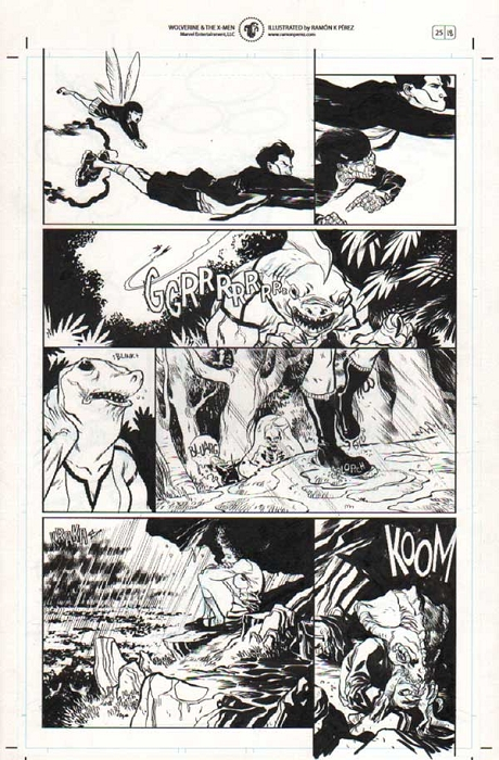 Wolverine & the X-Men #25 p.18 by Ramon Perez