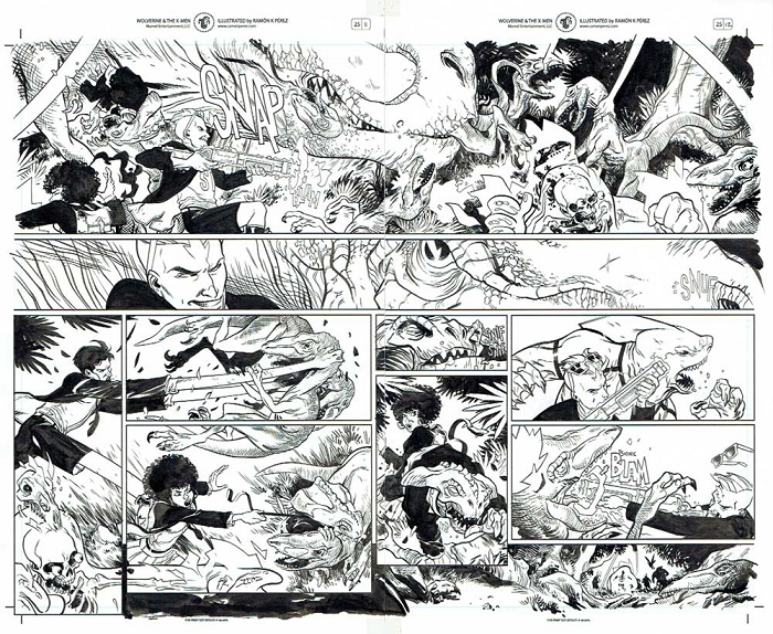 Wolverine & the X-Men #25 p.11-12 by Ramon Perez