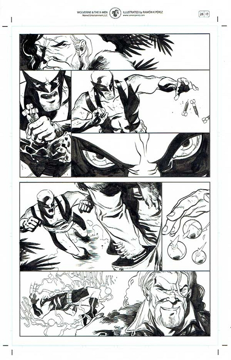 Wolverine & the X-Men #26 p.10 by Ramon Perez