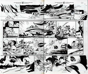 John Carter #1 p.18-19 by Ramon Perez
