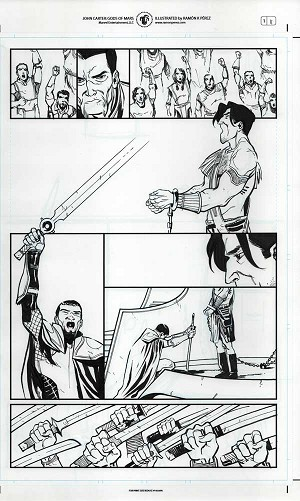 John Carter #1 p.11c by Ramon Perez