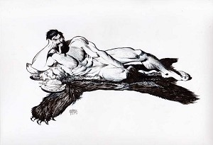Shirtless Bear Fighter #3 Variant by Andrew Robinson