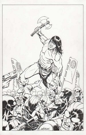 Conan #1 Variant by Dave Johnson