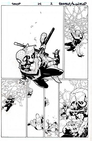 Spider-Man-Deadpool #24 p.02 by Chris Bachalo & Tim Townsend