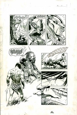 Tarzan Vs Predator #2 p.12 by Lee Weeks