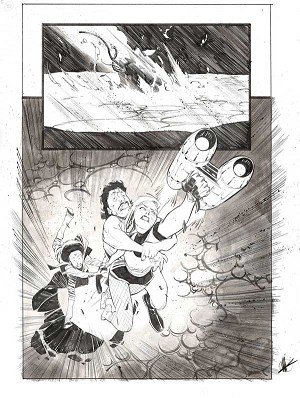 Space Bandits #5 p.19 by Matteo Scalera