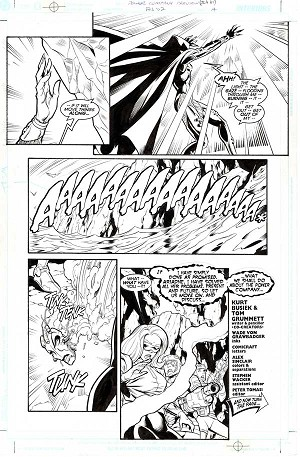 Power Company Preview JLA #61 p.14 by Wade von Grawbadger