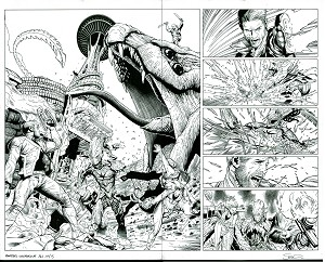 Monsters Unleashed #1 p.14-15 by Steve McNiven